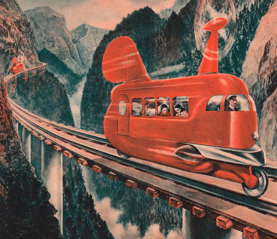 Propeller-driven trains, 1936