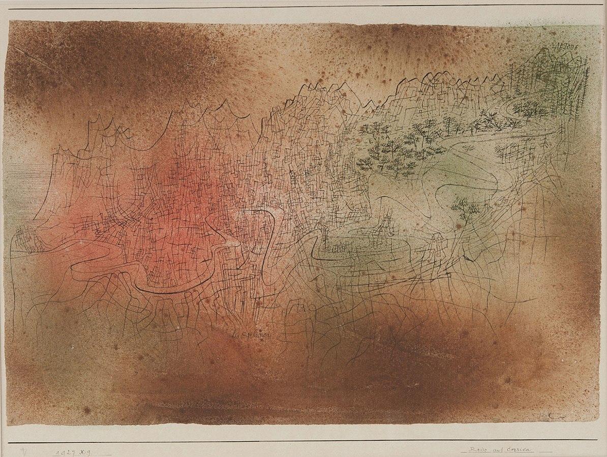 Paul Klee, Journey in Corsica, 1927