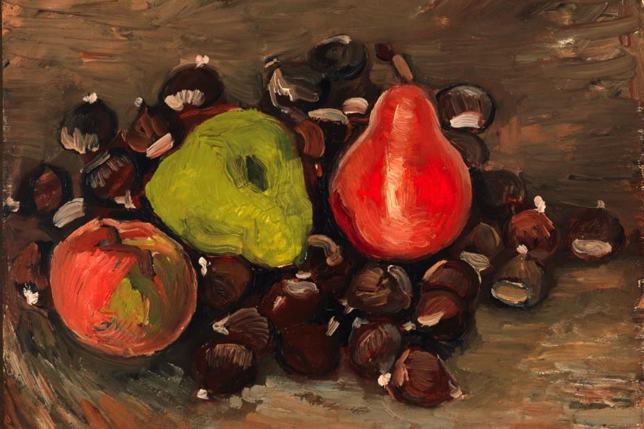 Vincent Van Gogh, Nature morte avec des fruits et des châtaignes